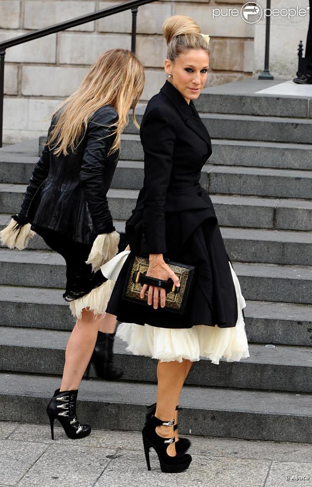 Sarah Jessica Parker lors de la cérémonie privée en l'honneur du regretté Alexander McQueen. Le 20 septembre à Londres