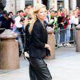 Kate Moss lors de la cérémonie privée en l'honneur du regretté Alexander McQueen. Le 20 septembre à Londres