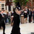 lors de la cérémonie privée en l'honneur du regretté Alexander McQueen. Le 20 septembre à Londres