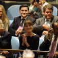 Carla Bruni à l'ONU pendant le discours de Nicolas Sarkozy, le 20 septembre 2010