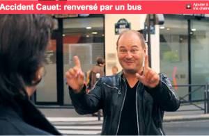 Cauet : Regardez-le se faire violemment faucher par un bus !