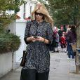 Claudia Schiffer à la sortie de l'école de ses enfants à Londres, le 23 septembre 2010