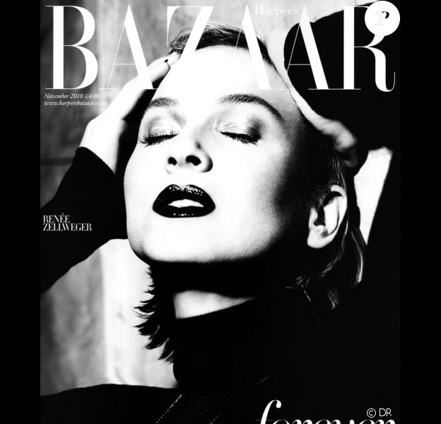 Renée Zellweger en couverture du Harper's Bazaar UK du mois de novembre 2010