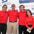 Emmanuel Chain et Patrick de Carolis lors du tournoi de golf des personnalités à Guyancourt le 15 octobre 2010