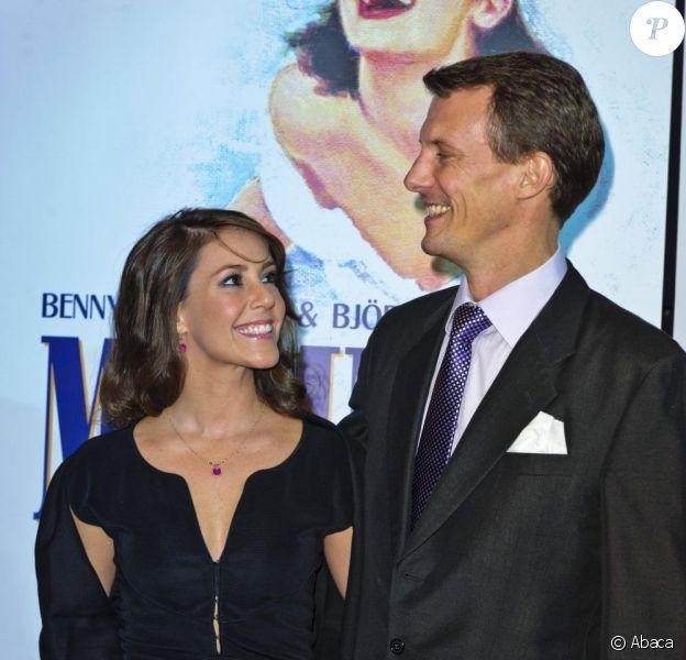 Joachim et Marie de Danemark à Copenhague. Ils assistent à la comédie musicale Mamma Mia !. 1er Octobre 2010