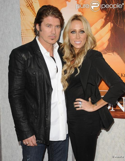 Billy Ray Cyrus et sa femme Tish en mars 2010 à Los Angeles