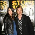 David Hallyday et sa femme Alexandra à l'avant-première de Shine a light à l'Olympia, le 9/04/08