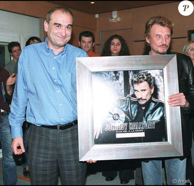 Johnny Hallyday et Pascal Nègre, 2002