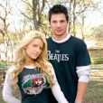 Nick Lachey avec sa première femme, Jessica Simpson en novembre 2004, dans leur propriété du Texas