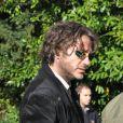 Robert Downey Jr. sur le tournage de Sherlock Holmes 2 en Grande-Bretagne à Pyrton le 20 octobre 2010
