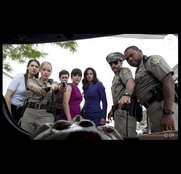 Courteney Cox, David Arquette et Neve Campbell dans Scream 4