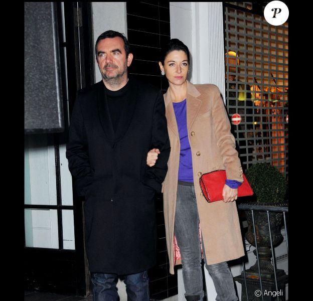Mary McCartney et son époux à Londres pour les illuminations de Noël à la boutique Stella McCartney le 22/11/10