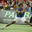 Gaël Monfils, défait lors de la finale de la Coupe Davis le 5 décembre 2010
