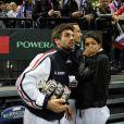 Ici Arnaud Clément. L'Equipe de France de tennis a perdu en finale de la Coupe Davis contre la Serbie, le 5 décembre 2010