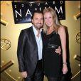 Henri et Florentine Leconte au restaurant Gioia, au VIP Room, le 7 décembre 2010. Présentation du dernier bijou d'Edouard Nahum.