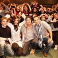Solal, Mikelangelo Loconte, Mélissa Mars et Yamin Dib - La troupe de Mozart, l'opéra rock, en showcase à Lille. 8/12/2010