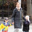 Christy Turlington et ses enfants Grace et Finn