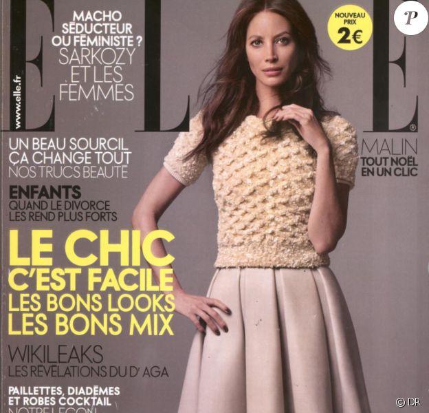 Christy Turlington en couverture de Elle