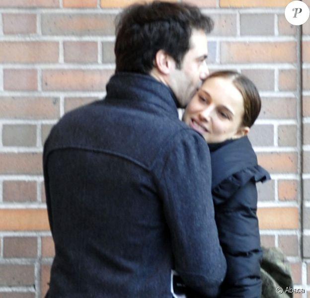 Benjamin Millepied et Natalie Portman à New York en janvier 2010