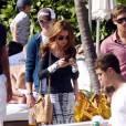 Tom Felton et sa compagne Jade Olivia en vacances à Miami, le 1 janvier 2011.