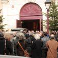 Obsèques de Bernard-Pierre Donnadieu, en l'église St Jean-Baptiste à Sceaux (92), le 3 janvier 2011