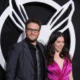 Seth Rogen et sa fiancée Lauren Miller lors de l'avant-première à Los Angeles de The Green Hornet le 10 janvier 2011