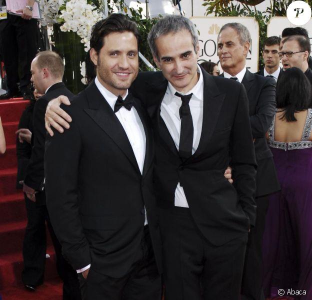 Edgar Ramirez et Olivier Assayas lors des Golden Globes le 16 janvier 2011 à Los Angeles