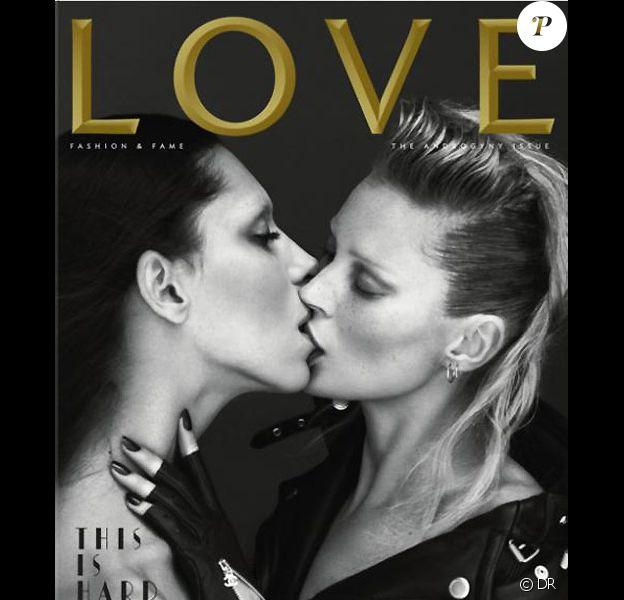 Couverture du magazine LOVE février 2011 avec Kate Moss et Léa T