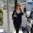 Jessica Alba, son mari Cash Warren et leur délicieuse poupée Honor dans un parce de Los Angeles
