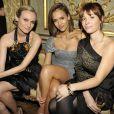 Diane Kruger, Jessica Alba et son amie à la soirée Gucci à Paris le 25 janvier 2011
