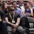 Kanye West lors du match opposant les New York Knicks et les Miami Heat, au Madison Square Garden à New York, le 27 janvier 2011