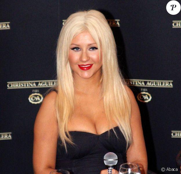 Christina Aguilera présente sa collection de vêtements pour C&A à Sao Paulo, le 2 février 2011.