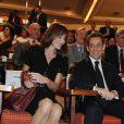 Carla Bruni et Nicolas Sarkozy lors de leur visite officielle en Inde, le 4 décembre 2011.