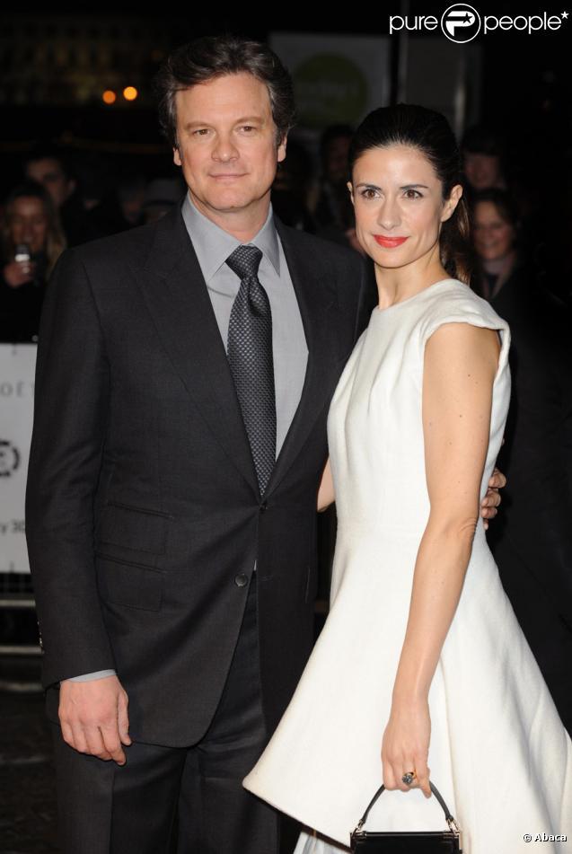 Colin Firth et sa bien-aimée Livia, lors des London Film Critics Circle Awards le 10 février 2011