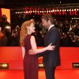 La ravissante Jessica Chastain et Gerard Butler à l'occasion de la présentation de  Coriolan , dans le cadre de la 61e Berlinale, à Berlin, le 14 février 2011.