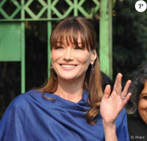Carla Bruni en Inde, en décembre 2006.