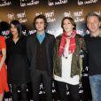 Cécile Cassel, Leïla Bekhti, Benjamin Siksou, Audrey Estrougo et Nicolas Briançon lors de l'avant-première à Paris du film Toi, moi, les autres, le 21 février 2011