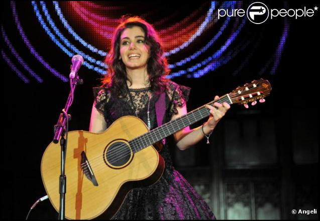 Katie Melua au concert de charité City Rock, à Londres, le 23 février 2011