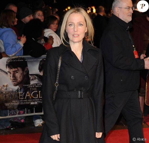 Gillian Anderson à l'occasion de l'avant-première britannique de L'Aigle de la Neuvième Légion, qui s'est tenue à l'Empire Cinema de Leicester Square, à Londres, le 9 mars 2011.