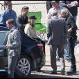 Brad Pitt sur le tournage du film Cogan's Trade, à la Nouvelle-Orléans, aux USA. Mars 2011