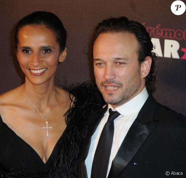 Karine Silla et Vincent Perez, cérémonie des César, le 25 février 2011.