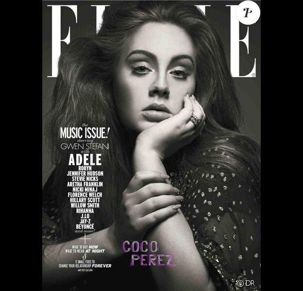 Adele en couverture du magazine ELLE, édition américaine, mai 2011.