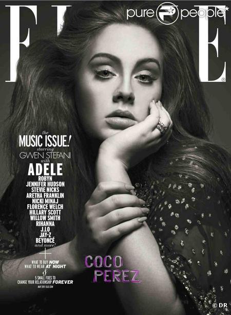 Adele en couverture du magazine  ELLE , édition américaine, mai 2011.
