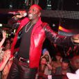 Akon se produit sur la scène du VIP Room Theater (Paris), samedi 9 avril.