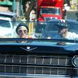 Pink, enceinte, et son mari Carey Hart dans les rues de Los Angeles le 31 mars 2011