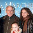 Patrice Laffont, son épouse Valérie et leur fille Mathilde en 2005