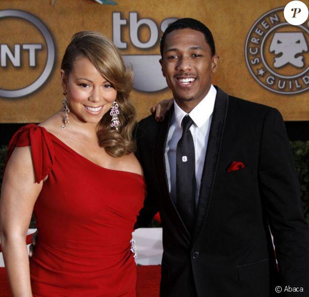 Mariah Carey et Nick Cannon sur le tapis rouge en janvier 2010