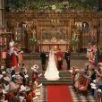 Le prince William et Kate Middleton : cérémonie de leur mariage dans l'abbaye de Westminster à Londres le 29 avril 2011
