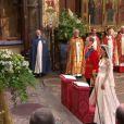 Mariage de Kate et William, le 29 avril 2011. Les époux s'aprrêtent à signer le registre, dans l'abbaye de Westminster.