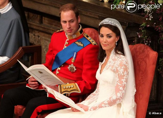 Le prince William et Kate Middleton échangent leurs voeux dans l\u0027abbaye de  Westminster à